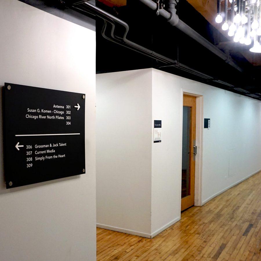 mid hallway signage