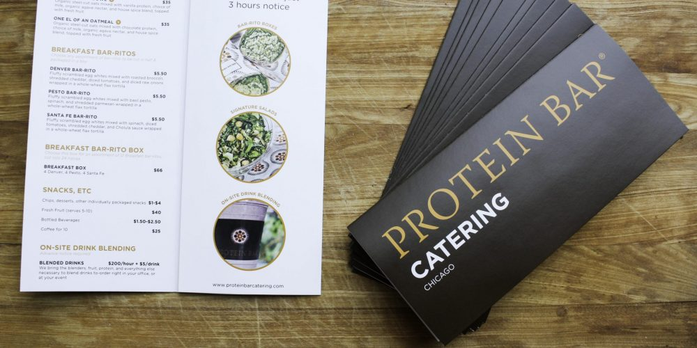 BiFold Brochures for Protein Bar