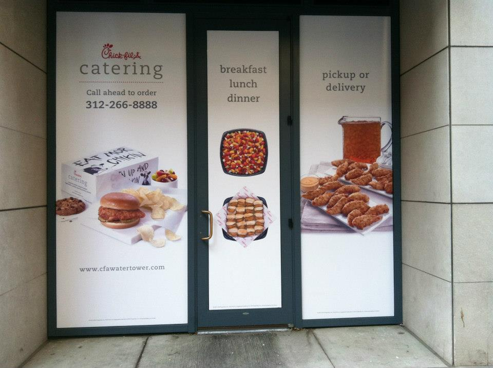 Chick fil A Door and Window graphics