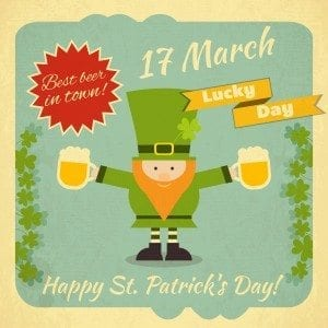 Special promotions are always in order on st. Patrick's day