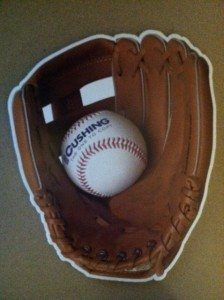 America's printed pastime 1 cushing baseball glove and ball 224x300