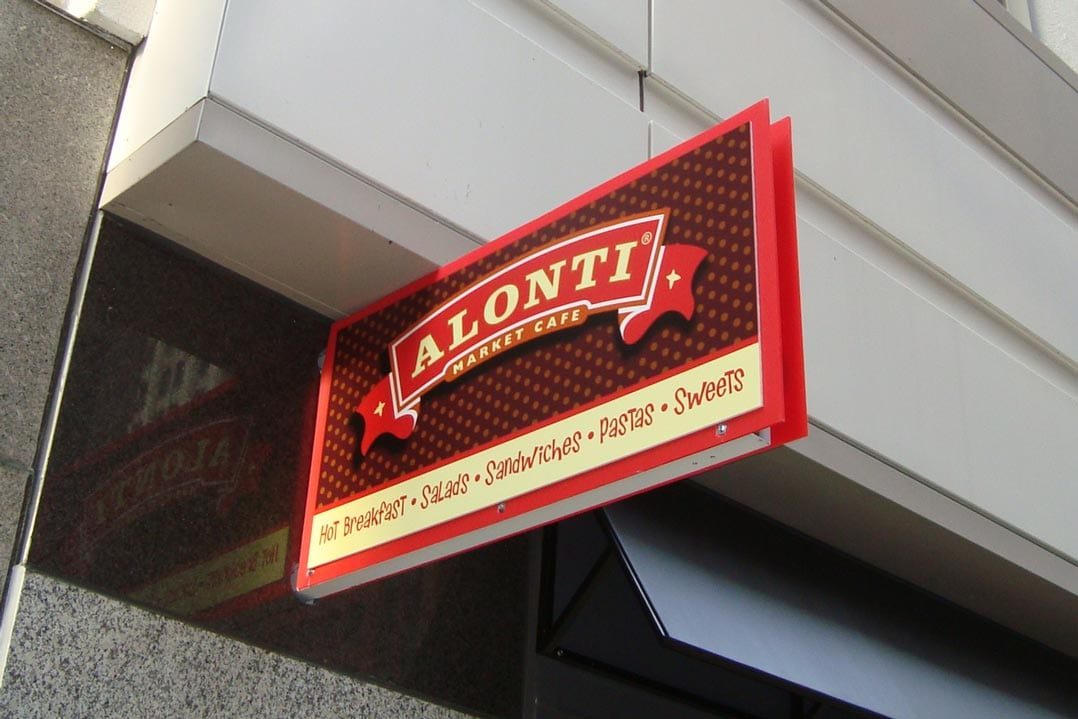 Outdoor Restaurant Signage Installed at Alonti
