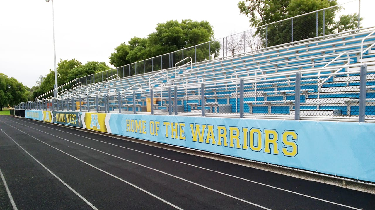 Track Field Banners at Maine West High School