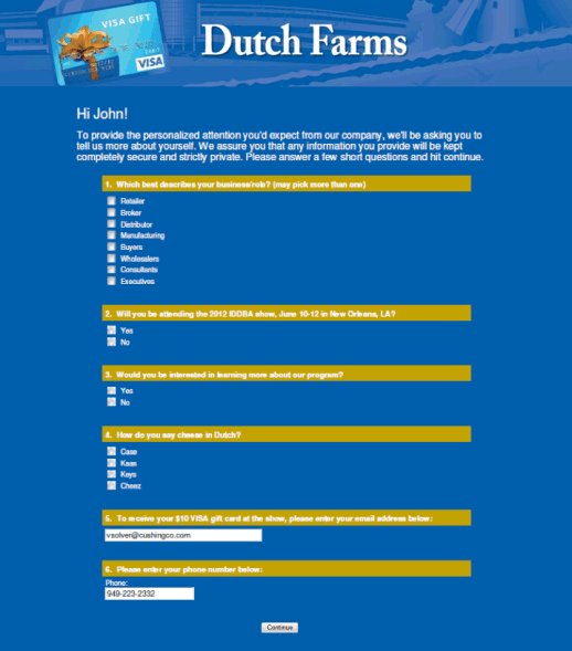 Dutch Farms Landing Page