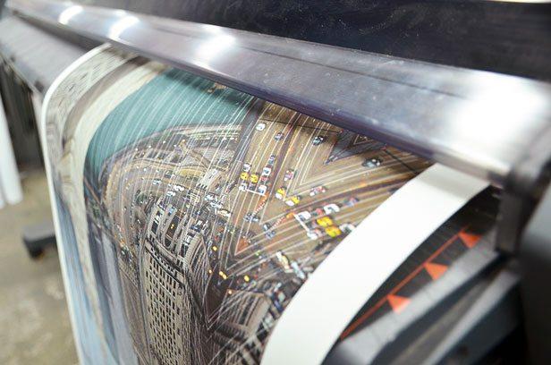A Giclée Print Rolls Off The Printer