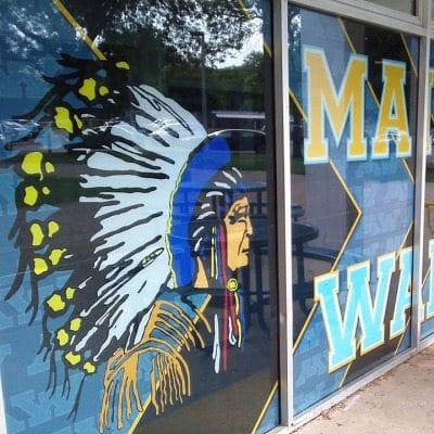 High School Window Graphics
