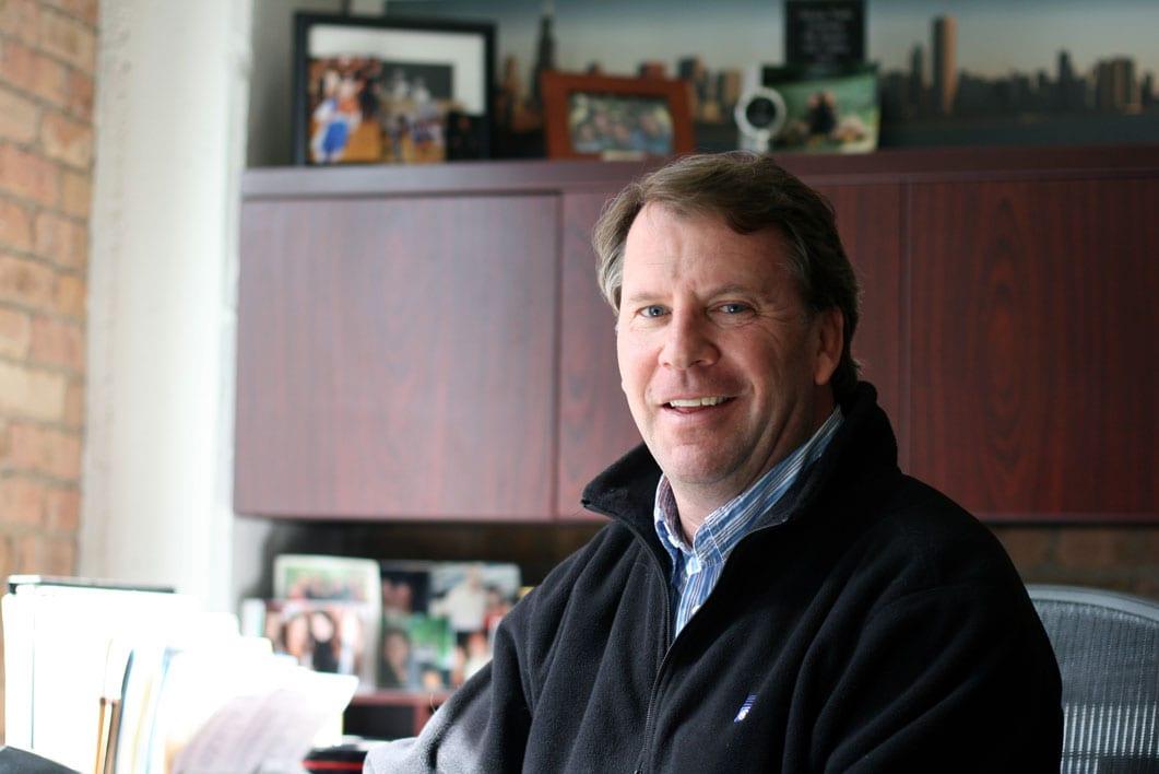 Joe Cushing in Cushing's River North Office.