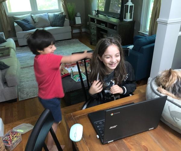 Jon davis 3 jons kids joking around during homeschooling
