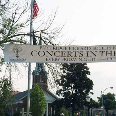 Banner Promotes Upcoming Concert Series