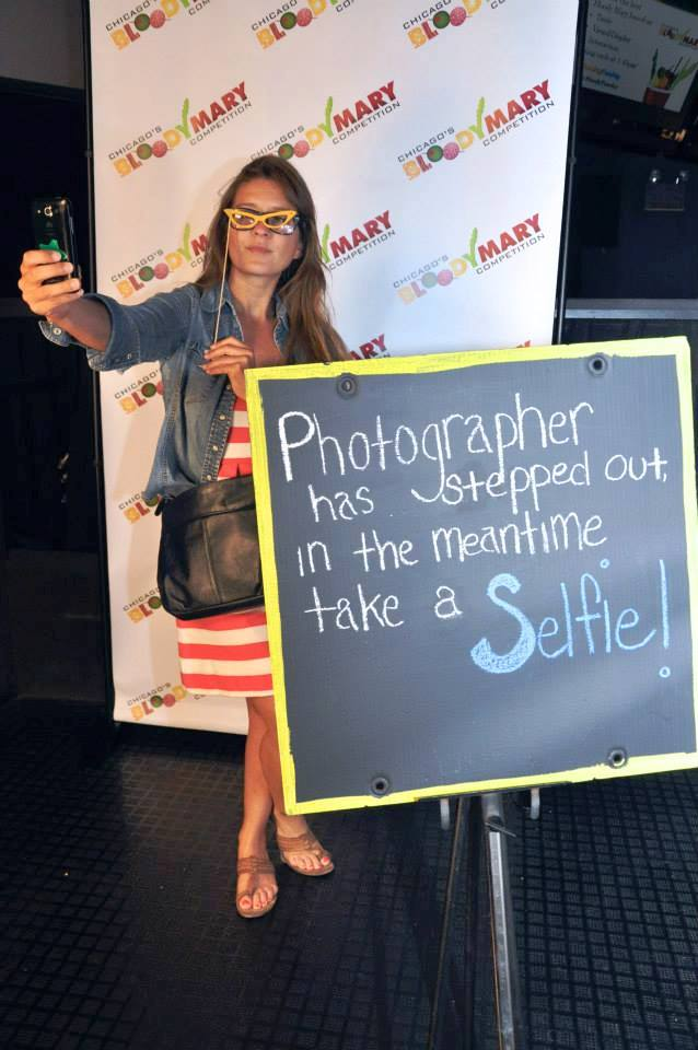 A Step & Repeat Selfie at the Chicago Bloody Mary Competition