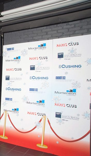 Step & Repeat Stationed at Chicago Event