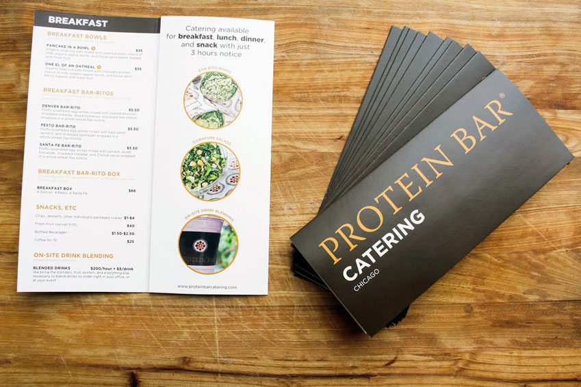 Brochures Printed for Protein Bar