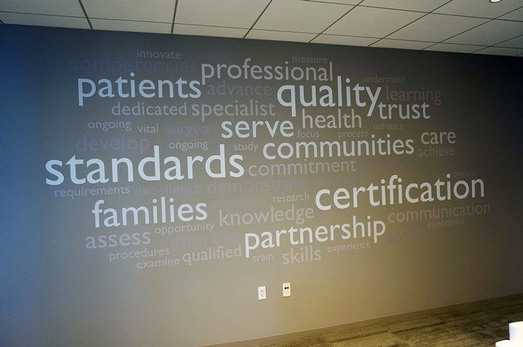 Word Wall Mural Installed at American Board of Medical Specialties in Chicago