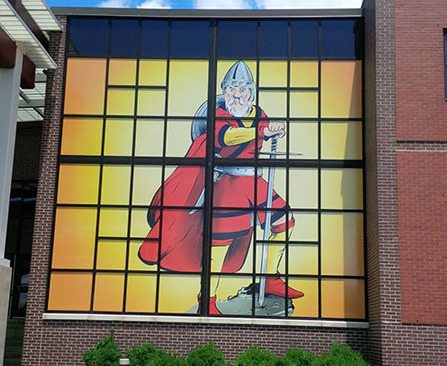Vinyl Window Graphics Installed at Schaumburg High School