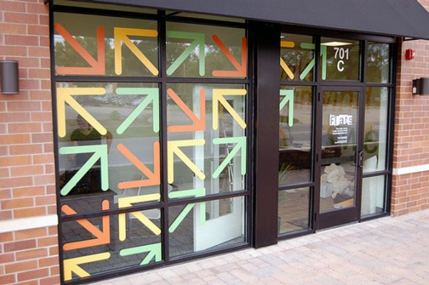 Vinyl Window Graphics Installed at Flats Retail Shop
