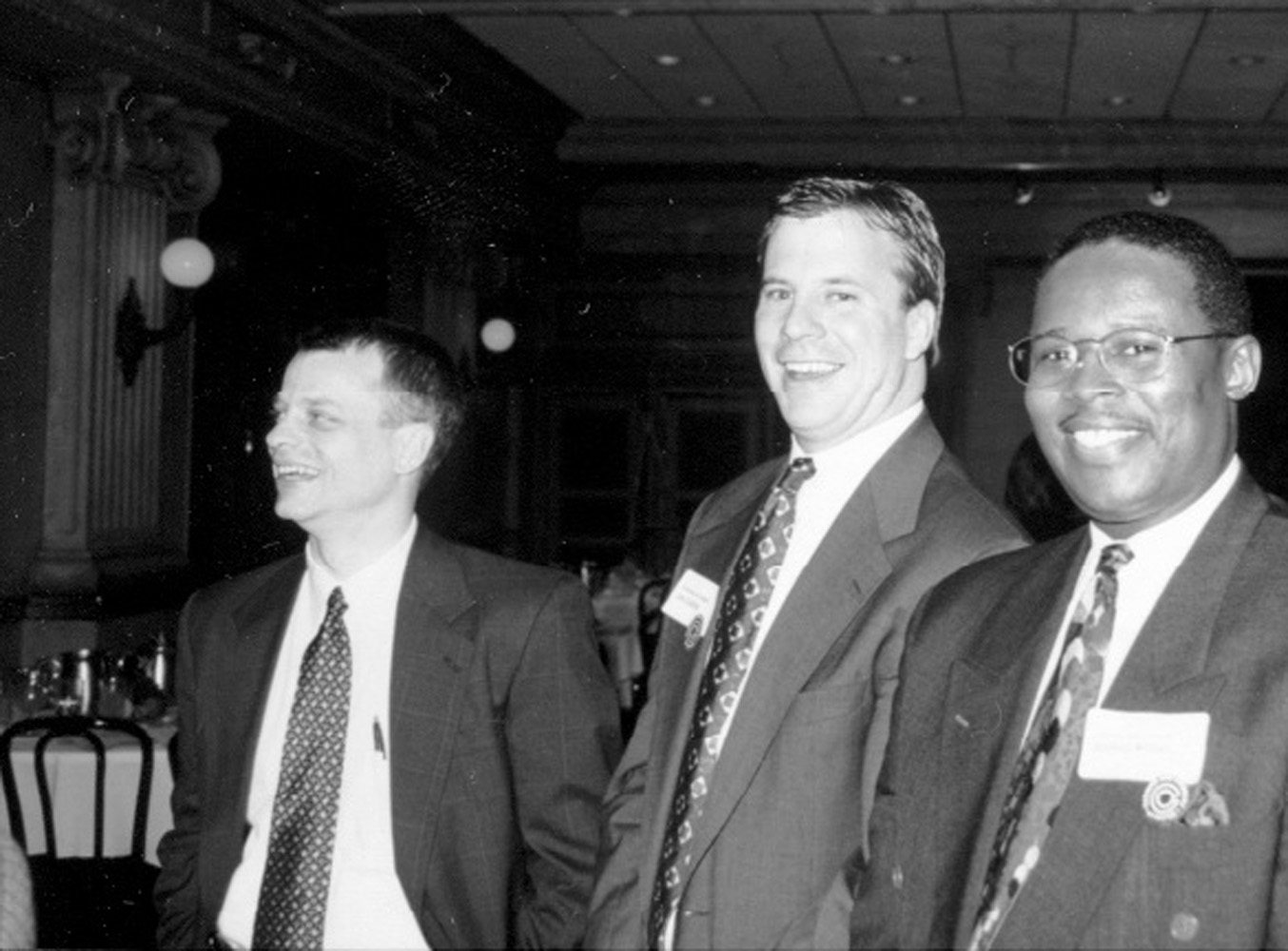 Carl Hansen and Joe Cushing at a Networking Event