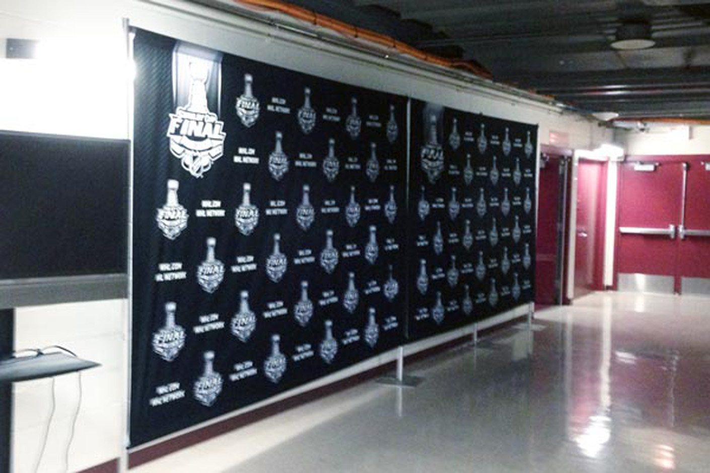 NHL Step and Repeat Media Backdrop