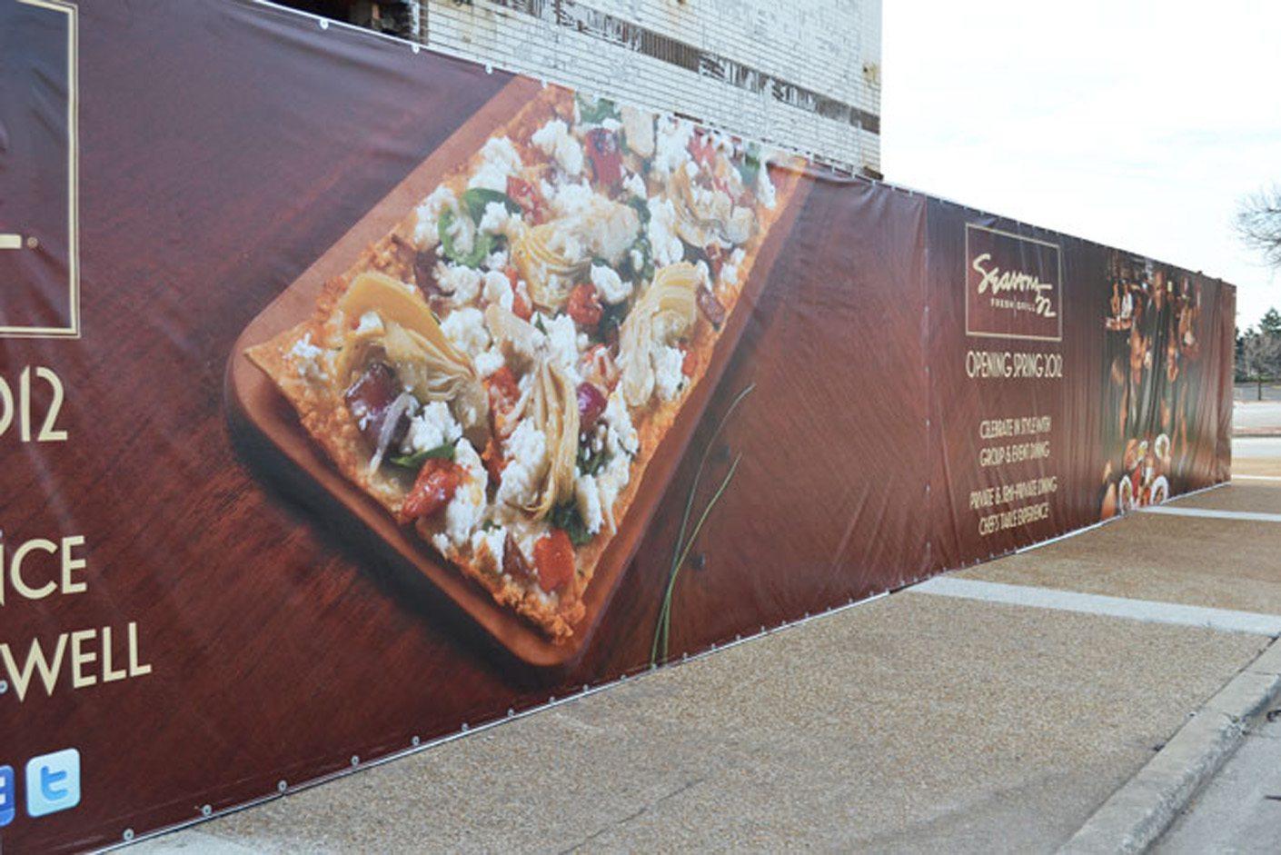 Construction Site Banner for Season's 52 Restaurant
