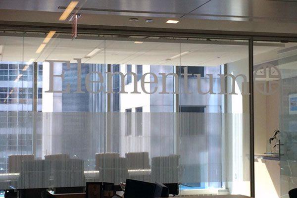 Office Window Graphics Installed at Elementum