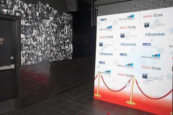 Printed Backdrop at Holiday Event
