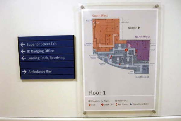 Custom Wayfinding Signage Interior Directional Signs