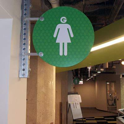 Groupon Wayfinding Office Sign