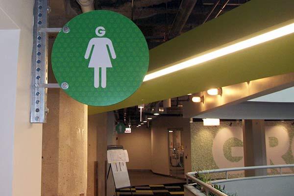 Groupon Wayfinding Office Sign