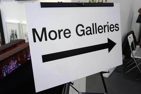 Temporary Wayfinding Signage Artist Event