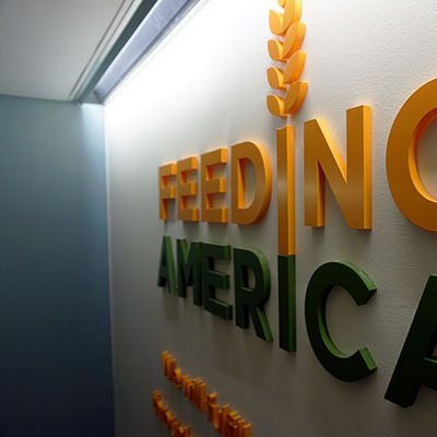 Dimensional Lettering Installed at Feeding America