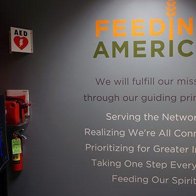 Feeding America Break Room Vinyl Cut Lettering