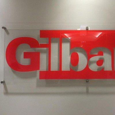 Acrylic Reception Signage at Gilbane