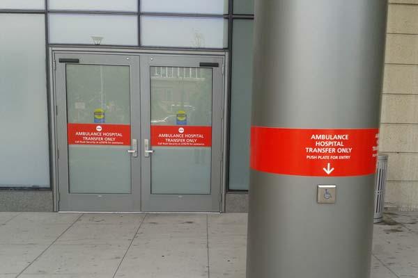Hospital Exterior Emergency Room Signs