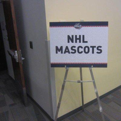 NHL Mascots Signage
