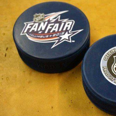 NHL Hockey Puck Stickers