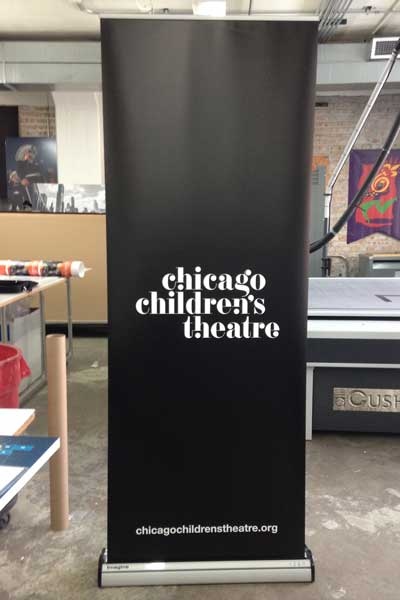 Theater Banner Stand