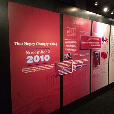 Timeline Theater Lobby Graphics