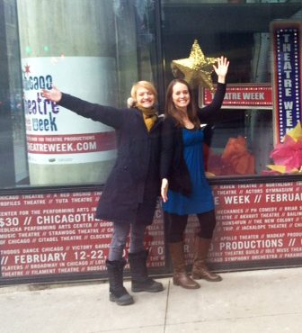 Laura & Josette In Front of Window Graphic Display