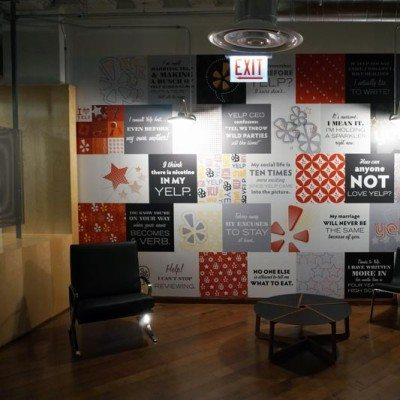 Yelp Reception Area Wall Graphics