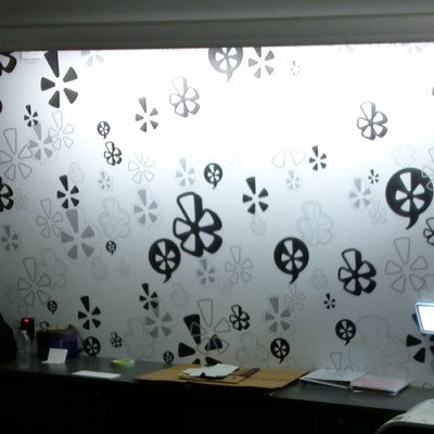 Printed and Installed Wall Graphics (Dreamscape Suede Wallcovering). Lightbox Installed By Cushing.