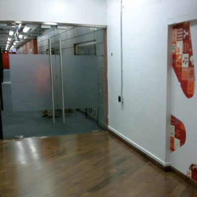 Yelp Graphics Printed and Installed with Dreamscape Suede Wallcovering