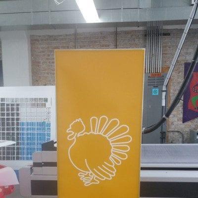 Kellogg School Banner Stand