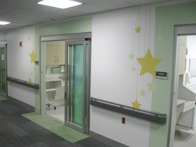 Rush University Medical Center Hallway Graphics Cushing