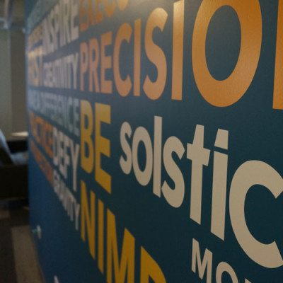 Solstice Vinyl Cut Lettering Wall Graphic