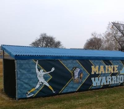 Dugout Graphics Installed at Maine West High School in Des Plaines.