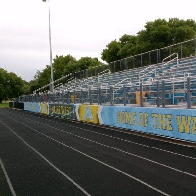Maine West Graphic on Track
