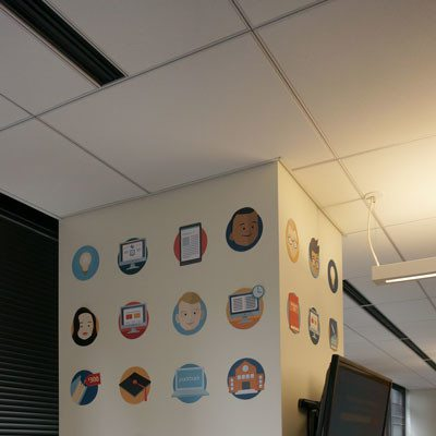 Temporary Vertical Wall Decals at PackBack