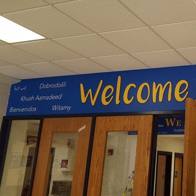 Welcome Banner at Madison Elementary School