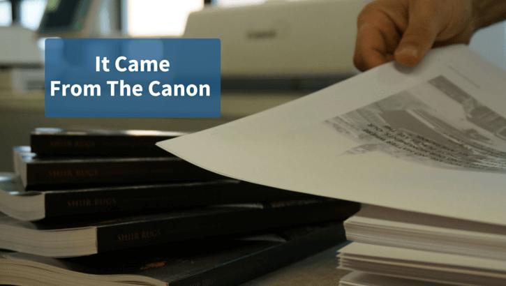 It Came from the Canon 1 It Came from The Canon1