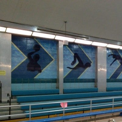 Wall Graphic at School Pool