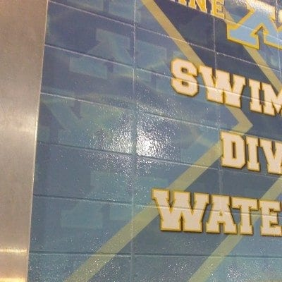 School Pool Wall Graphic